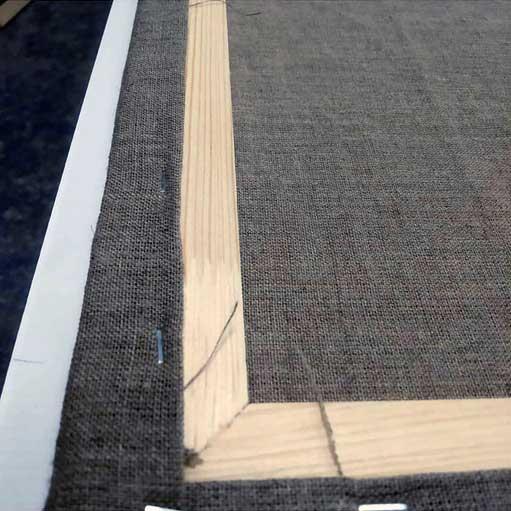 Холст на подрамнике лен