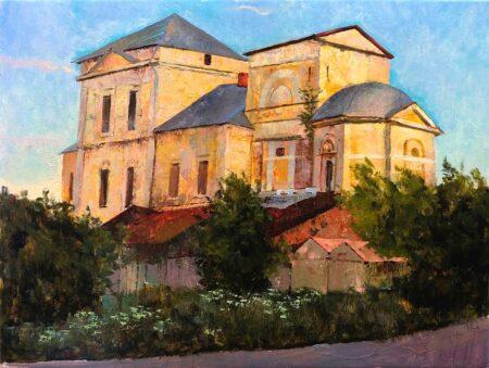 """Картина """"Вечер в Торжке"""" 45х60"""