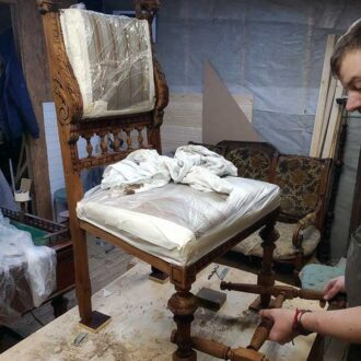 Реставрация дубового кресла
