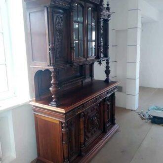 Реставрация антикварного голландского буфета