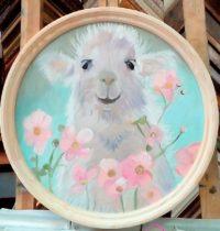 картина овечка