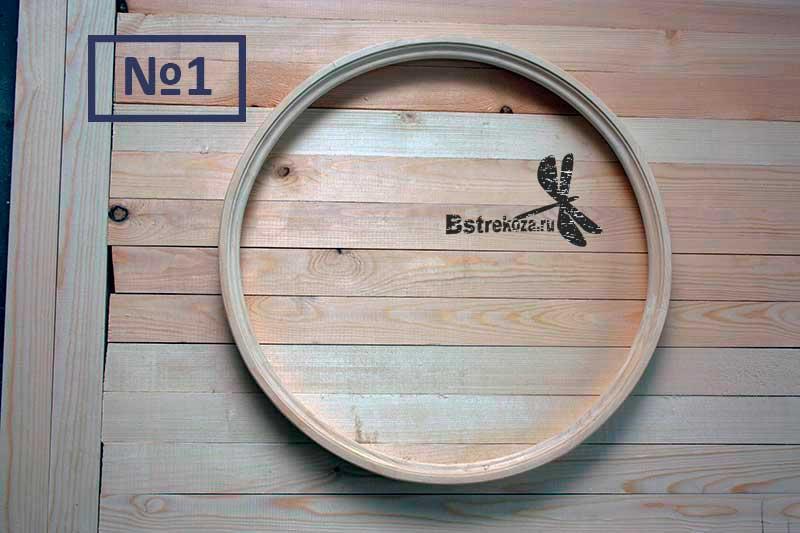 ø50см круглая рама для зеркала деревянная сосна напольная настенная толщина 27 мм