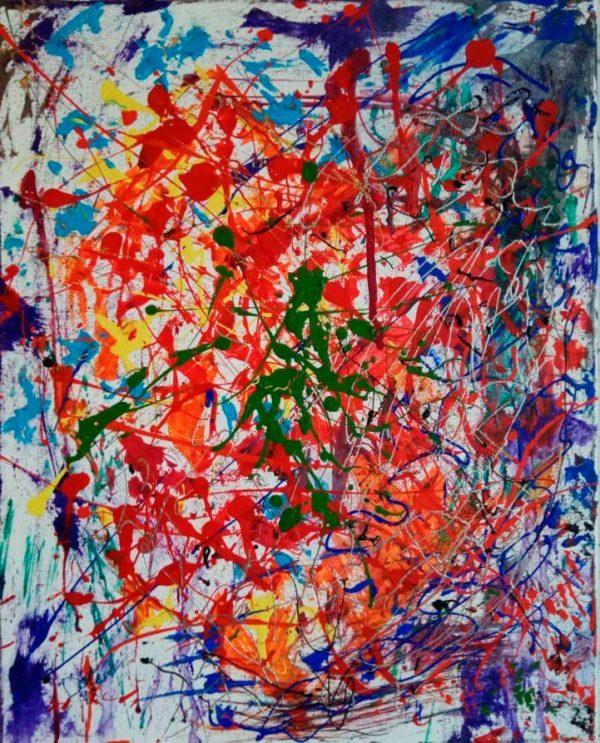 Картина Сердце путешественника. холст, акрил. 40х50 см.