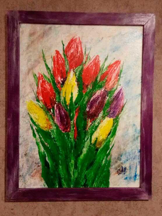 Картина тюльпаны