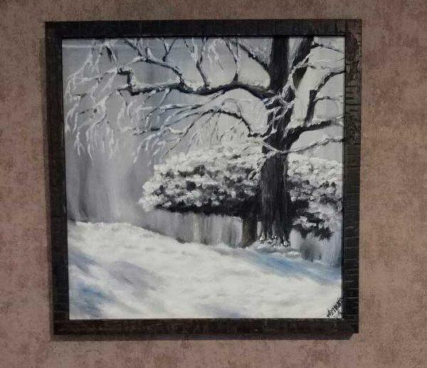 Картина зима