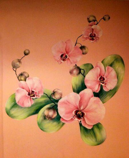 """Роспись на стене""""Орхидеи"""""""