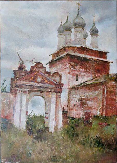 "Картина ""Руины храм"" 70х50"