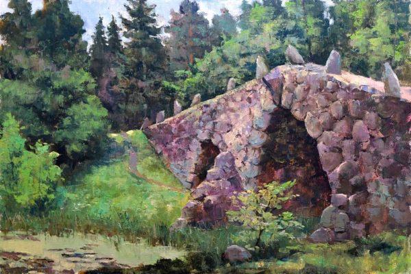 """Картина """"В лесу у Чертова Моста"""" 40х60"""