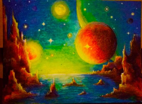 "Картина ""В космосе..."""