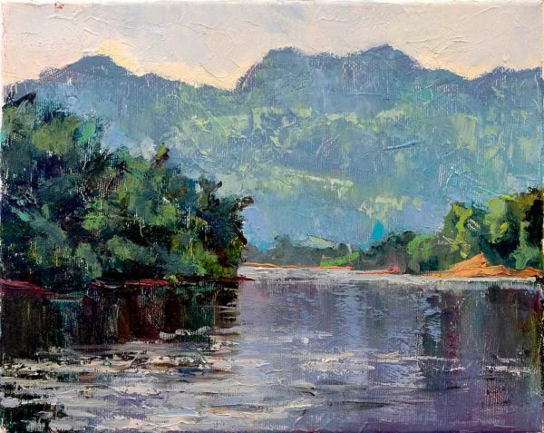 "Картина ""Утро на реке Квай"" 24х30"