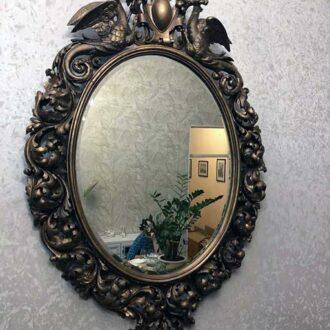 Резное старинное зеркало в раме реставрация